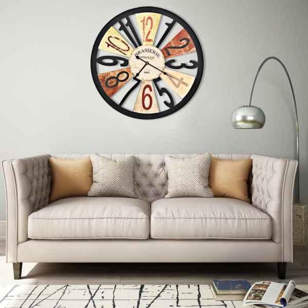 vidaXL Ceas de perete, multicolor, 60 cm, metal