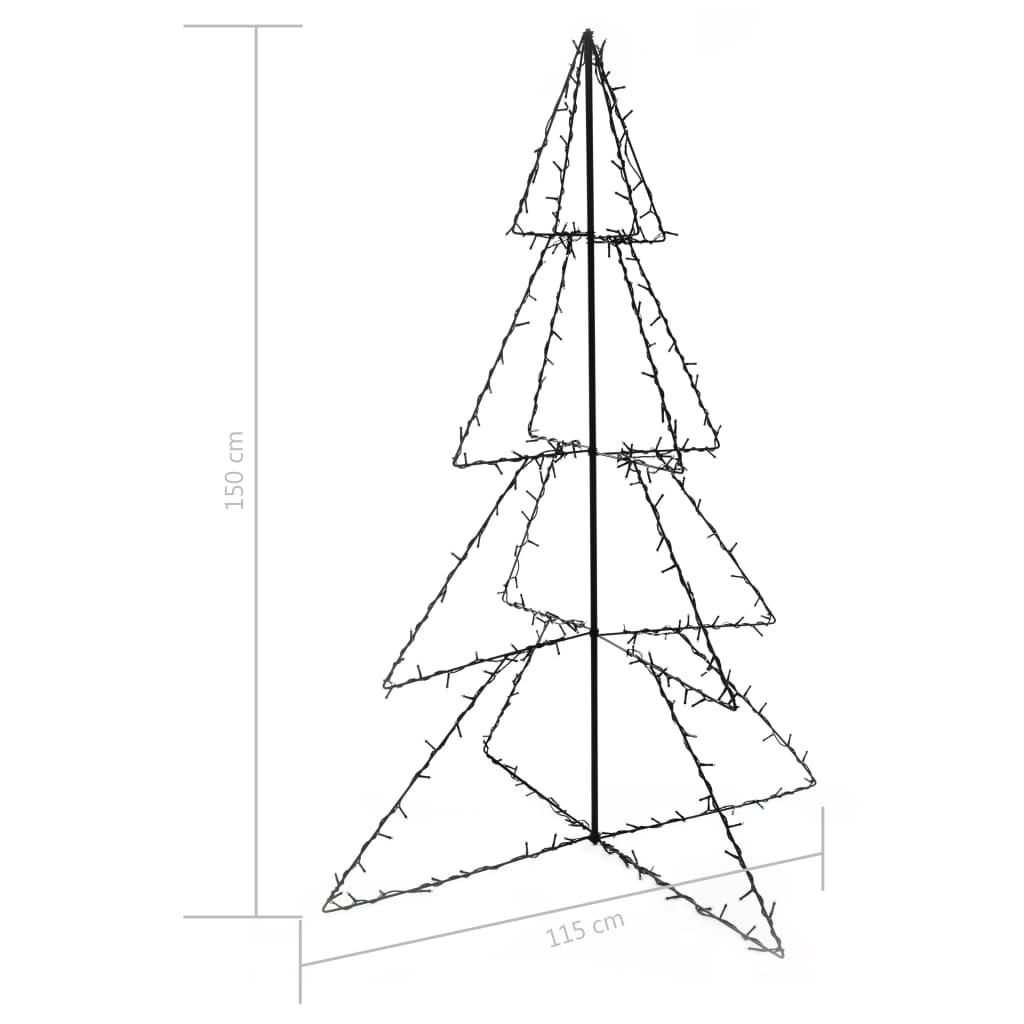 Brad Crăciun conic 115×150 cm, 240 LED-uri, interior & exterior