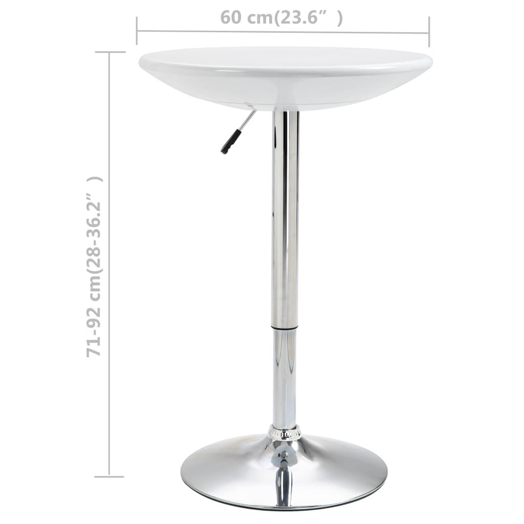 Masă de bar, alb, Ø60 cm, ABS