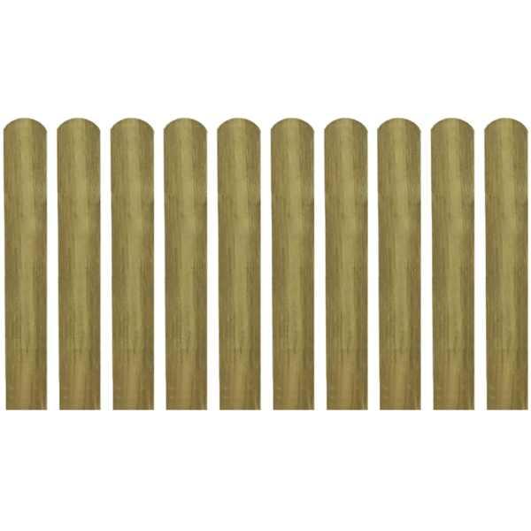 vidaXL Șipci de gard din lemn tratat, 20 buc., 60 cm