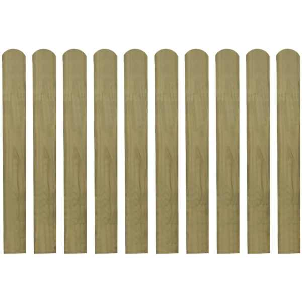vidaXL Șipci de gard din lemn tratat, 30 buc., 80 cm
