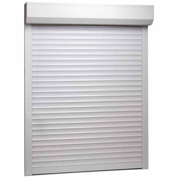 vidaXL Oblon rulant, alb, 110 x 130 cm, aluminiu