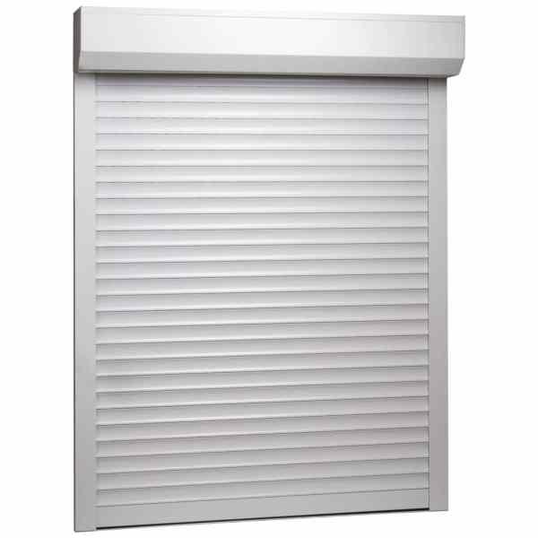 vidaXL Oblon rulant, alb, 120 x 150 cm, aluminiu