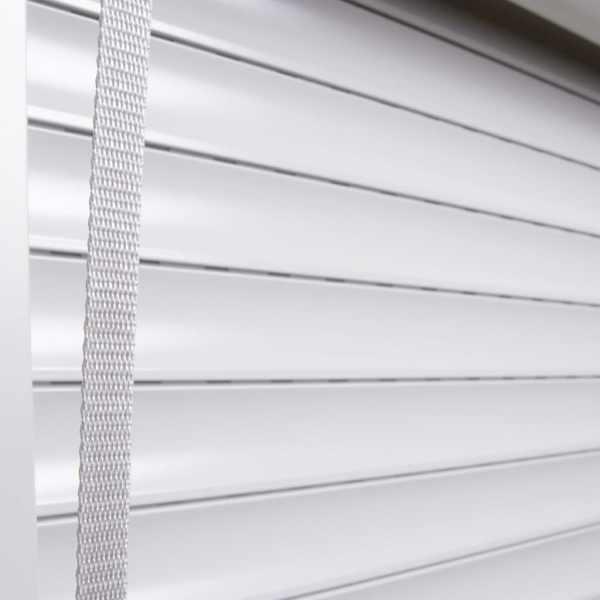 Oblon rulant, alb, 130 x 140 cm, aluminiu