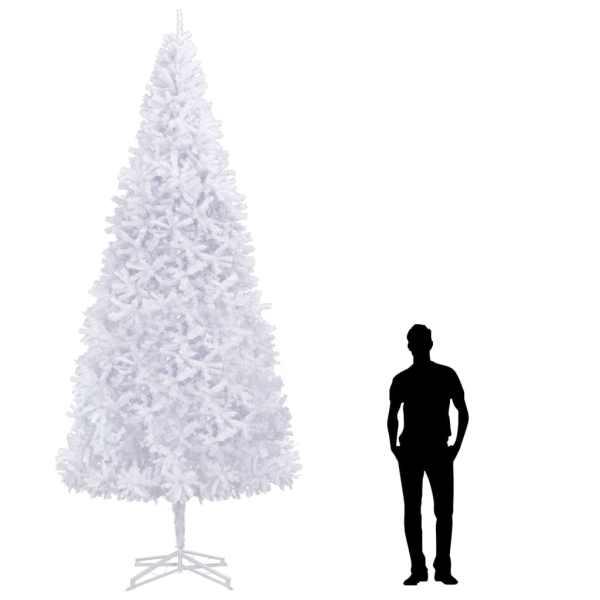 vidaXL Brad de Crăciun artificial, alb, 400 cm