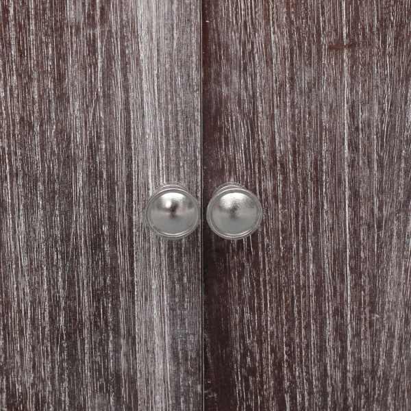 Dulap de baie, alb și maro, 46 x 24 x 116 cm, lemn de paulownia