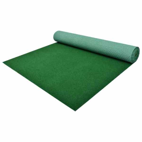 vidaXL Gazon artificial cu crampoane, verde, 2 x 1 m, PP