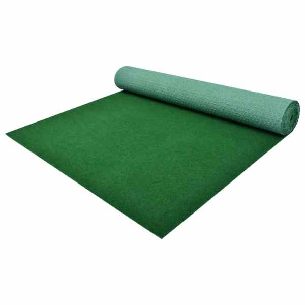 vidaXL Gazon artificial cu crampoane, verde, 3×1,33 m, PP