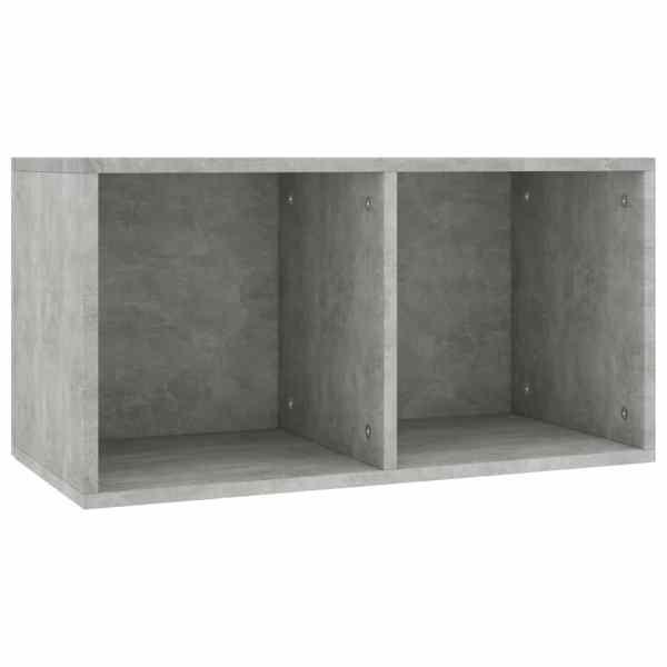 Cutie de depozitare vinyl-uri, gri beton, 71 x 34 x 36 cm, PAL