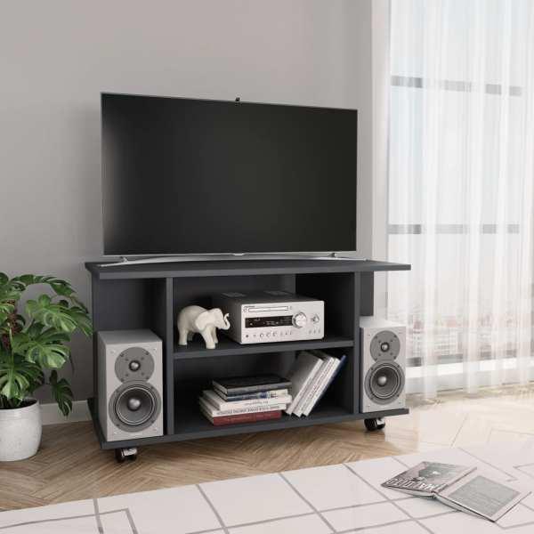 vidaXL Comodă TV cu rotile, gri, 80 x 40 x 40 cm, PAL
