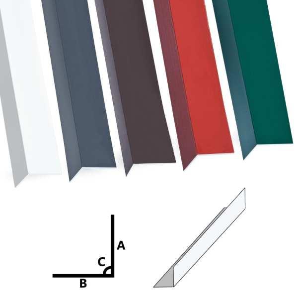 Profile de colț în L 90° 5 buc. alb 170 cm 100×100 mm aluminiu