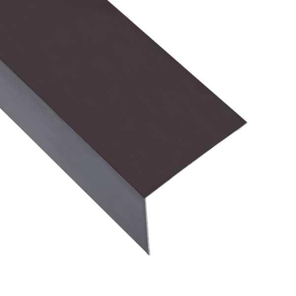 vidaXL Profile de colț în L 90° 5 buc. maro 170 cm 30×30 mm aluminiu