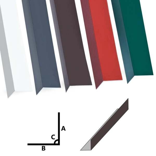 Profile de colț în L 90° 5 buc. maro 170 cm 30×30 mm aluminiu
