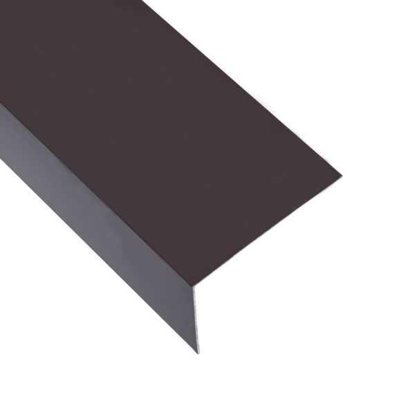 vidaXL Profile de colț în L 90° 5 buc. maro 170 cm 60×40 mm aluminiu