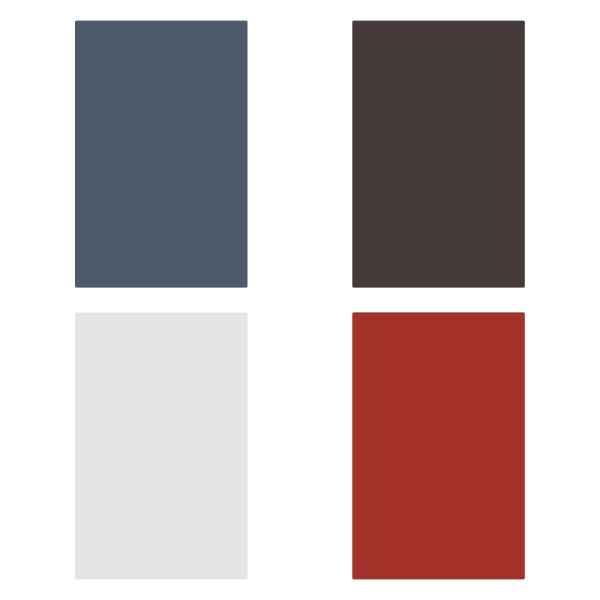Plăci bordură acoperiș în L, 5 buc., roșu, 170 cm, aluminiu
