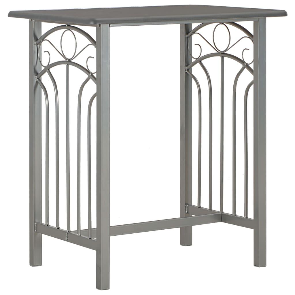 Set mobilier de bar, 3 piese, antracit, lemn și oțel