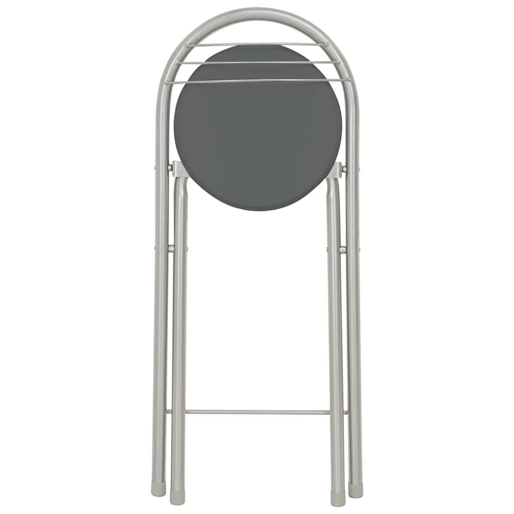 vidaXL Set mobilier de bar, cu rafturi, 3 piese, negru, lemn și oțel
