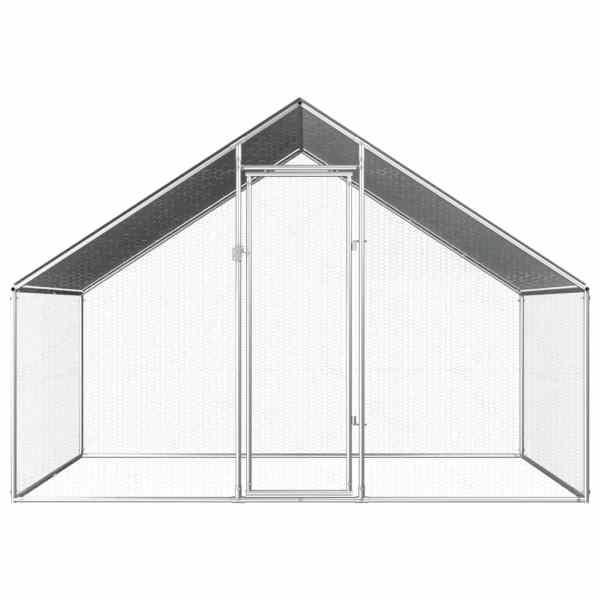 Coteț de exterior pentru păsări, 2,75x2x1,92 m, oțel galvanizat