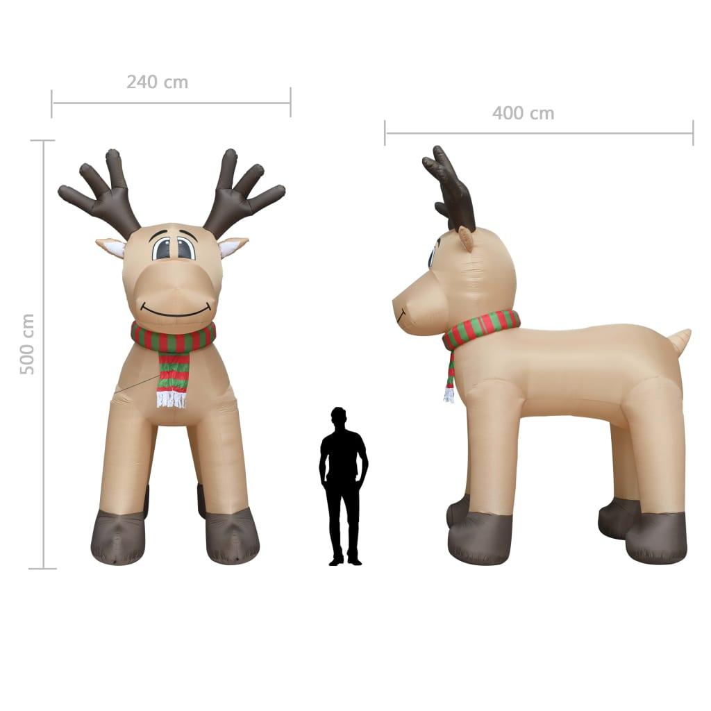 Ren gonflabil de Crăciun, LED-uri, IP44, 500 cm, XXL