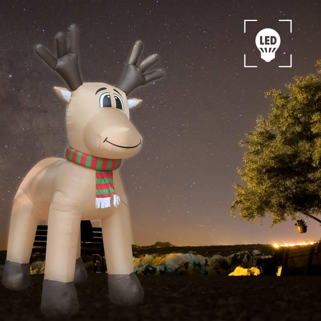 vidaXL Ren gonflabil de Crăciun, LED-uri, IP44, 500 cm, XXL