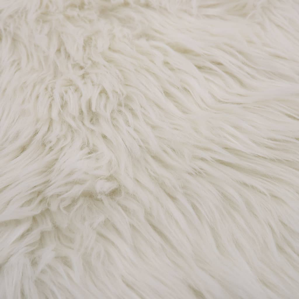 Covor, alb, 60 x 90 cm, imitație de blană de oaie