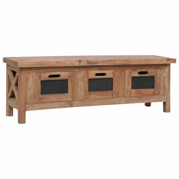 vidaXL Comodă TV cu 3 sertare, 120 x 30 x 40 cm, lemn masiv de mahon