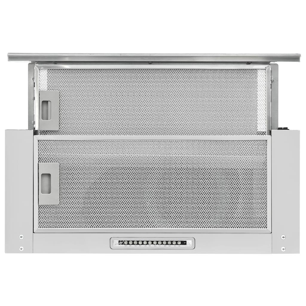 vidaXL Hotă încorporată slim, aluminiu, oțel inoxidabil, 480 m³/h