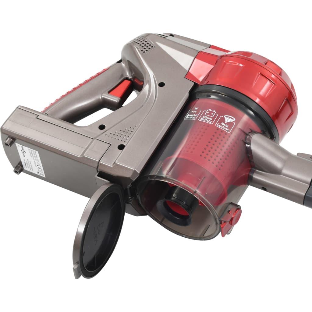 vidaXL Aspirator multi-ciclon de mână fără fir, 2-în-1, roșu, 120 W