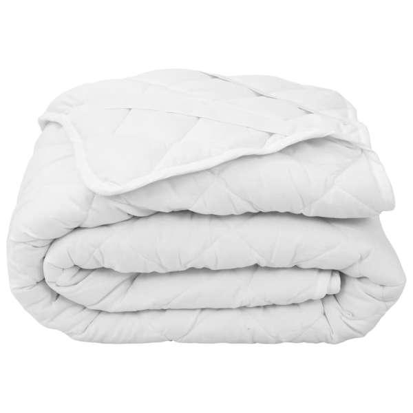 vidaXL Protecție pentru saltea matlasată, alb, 140 x 200 cm, groasă