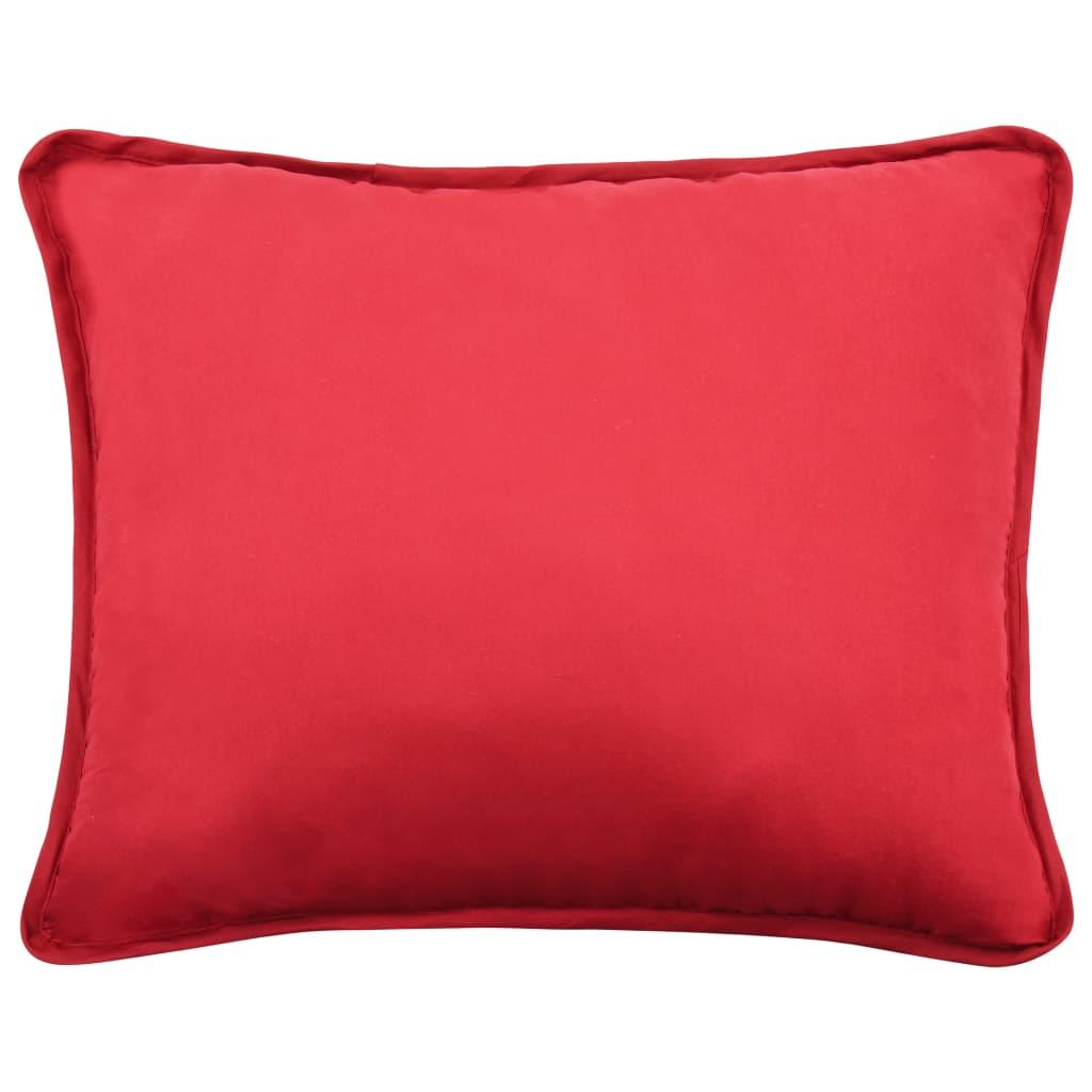 Set pilotă iarnă 3 piese roșu burgund 200×200/60×70 cm textil