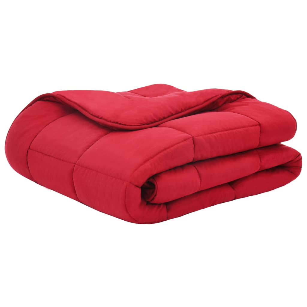 Set pilotă iarnă 3 piese roșu burgund 200×200/80×80 cm textil