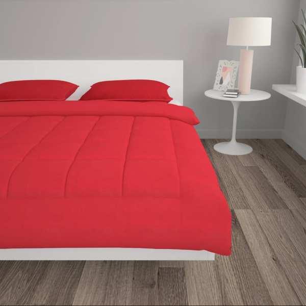 vidaXL Set pilotă iarnă 3 piese roșu burgund, 240×220/80×80 cm, textil