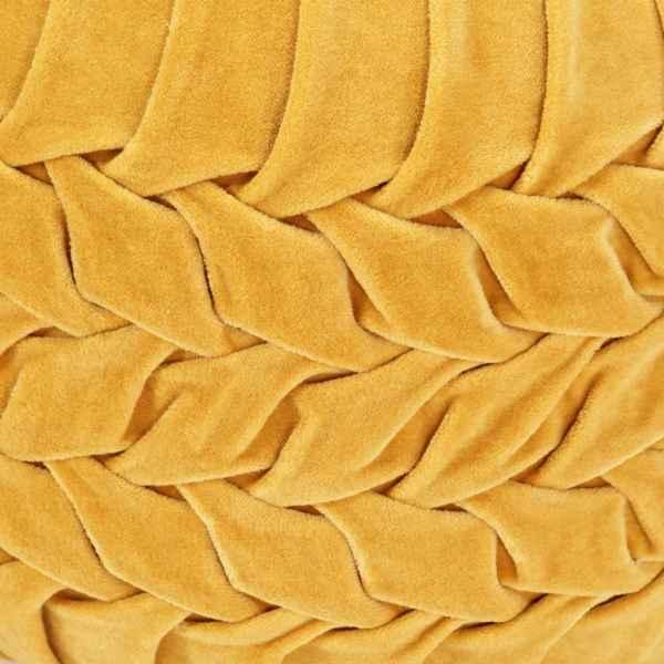 Fotoliu puf, galben, 40 x 30 cm, catifea de bumbac, romburi
