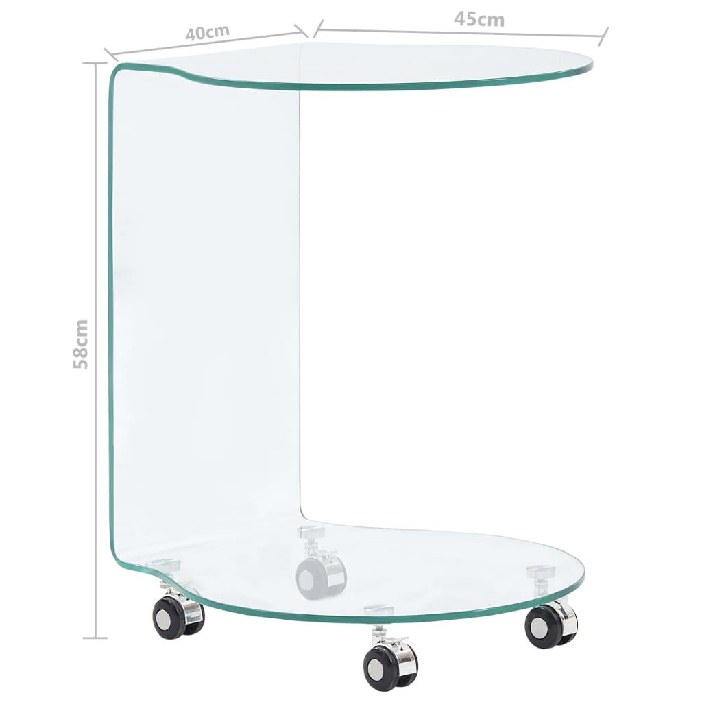 Măsuță de cafea, 45 x 40 x 58 cm, sticlă securizată