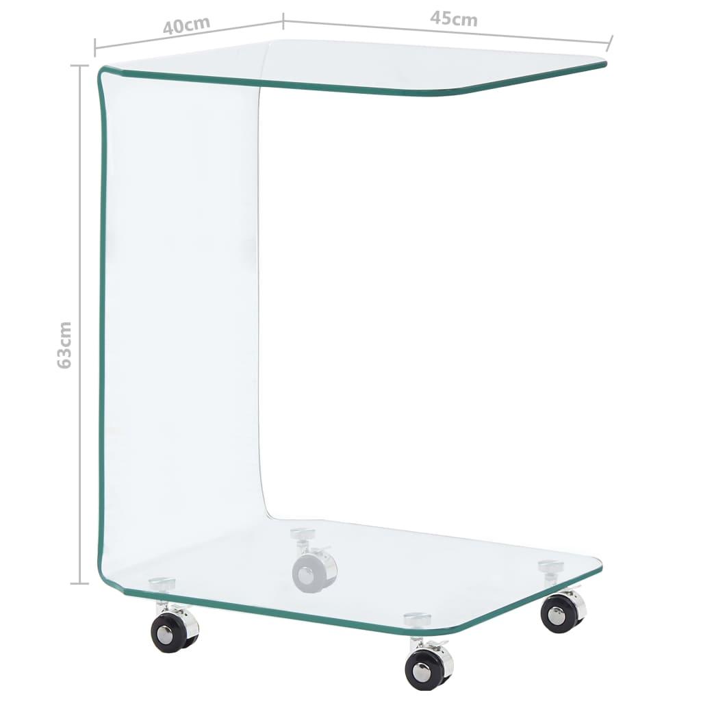 Măsuță de cafea, 45 x 40 x 63 cm, sticlă securizată