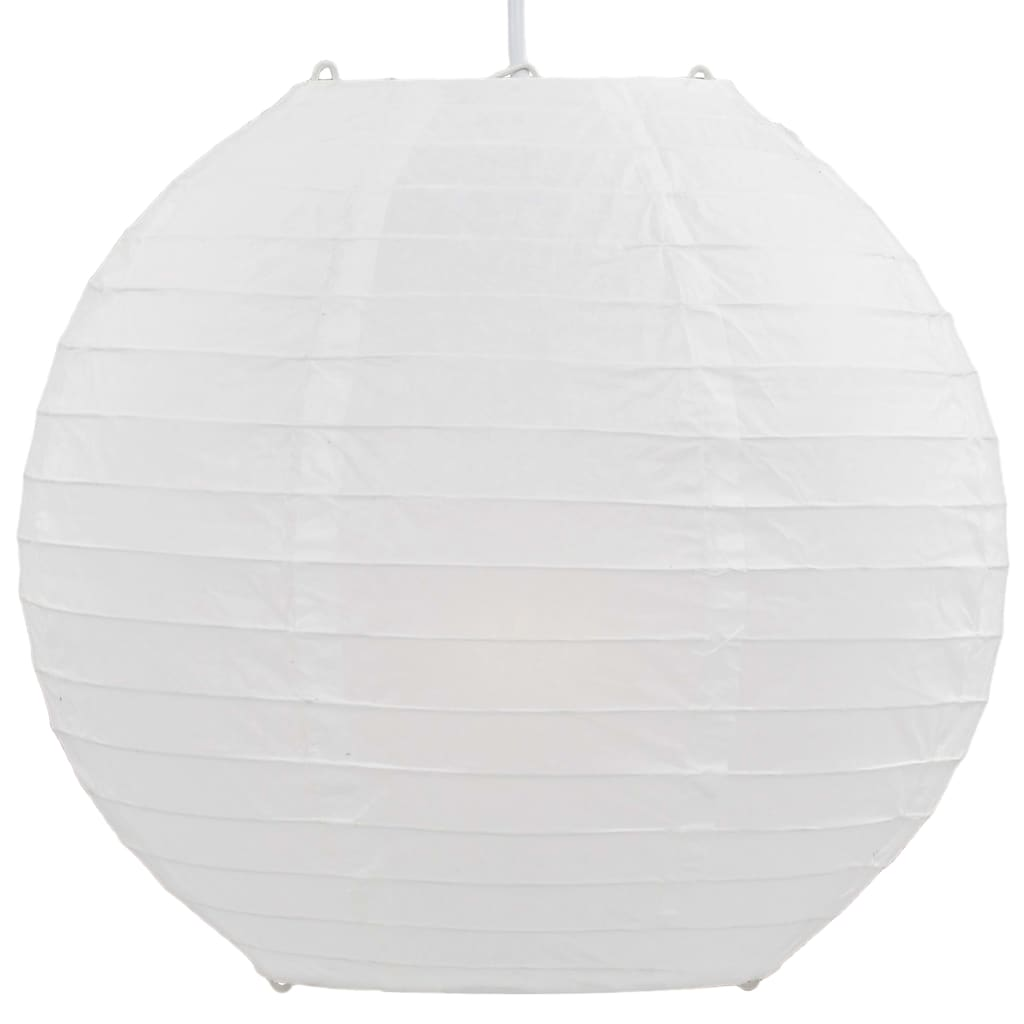 vidaXL Lampă suspendată, alb, Ø30 cm, E27
