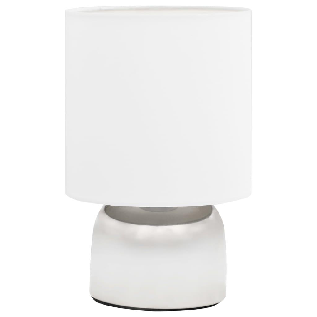 vidaXL Veioze, 2 buc., senzor de atingere, alb, E14