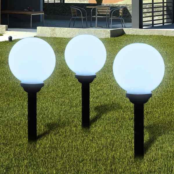 vidaXL Lămpi de exterior pentru alee LED 6 buc. 20 cm, cu țăruș de sol
