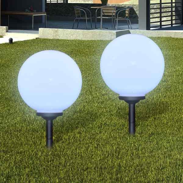 vidaXL Lămpi de exterior pentru alee LED 4 buc. 30 cm, cu țăruș de sol