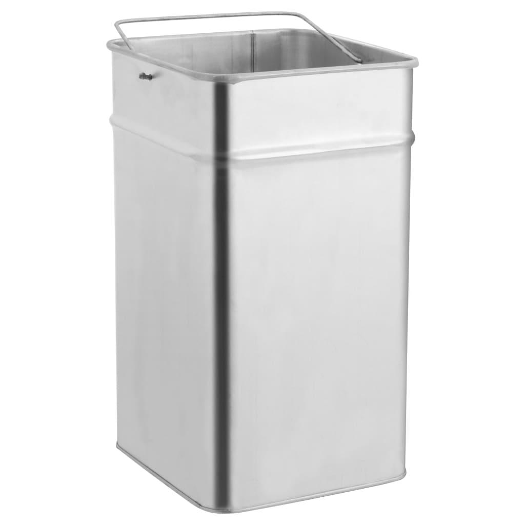 Coș de gunoi cu scrumieră, pentru hotel, negru, oțel, 36 L