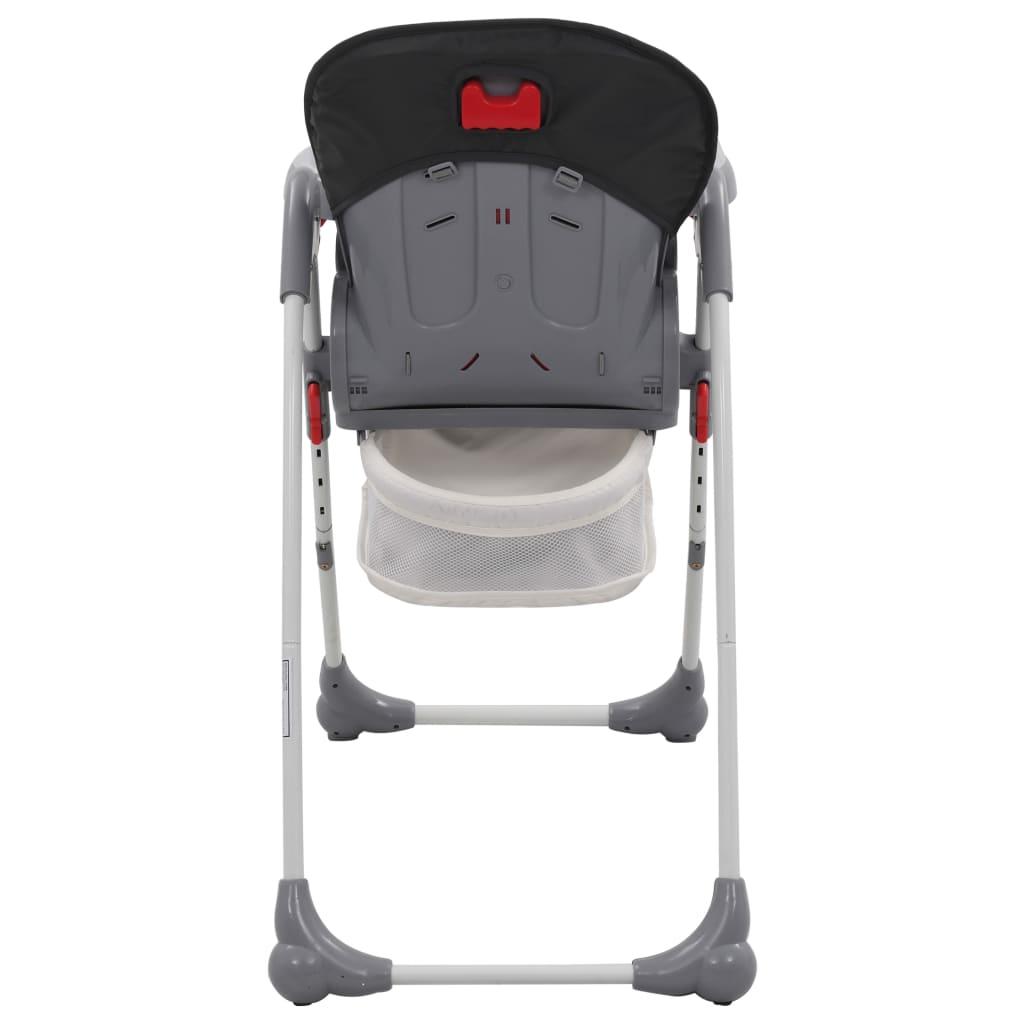 vidaXL Scaun de masă înalt pentru copii, gri
