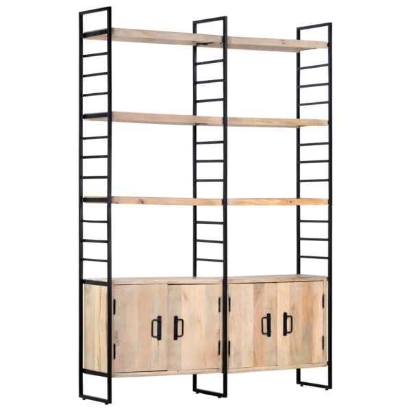 vidaXL Bibliotecă cu 4 rafturi, 124 x 30 x 180 cm, lemn masiv de mango