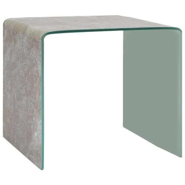 vidaXL Măsuță de cafea, marmură maro, 50x50x45 cm, sticlă securizată