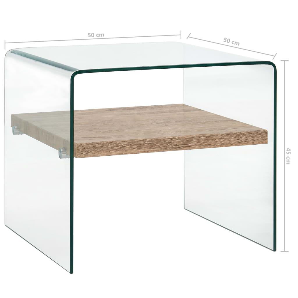 Măsuță de cafea, transparent, 50x50x45 cm, sticlă securizată
