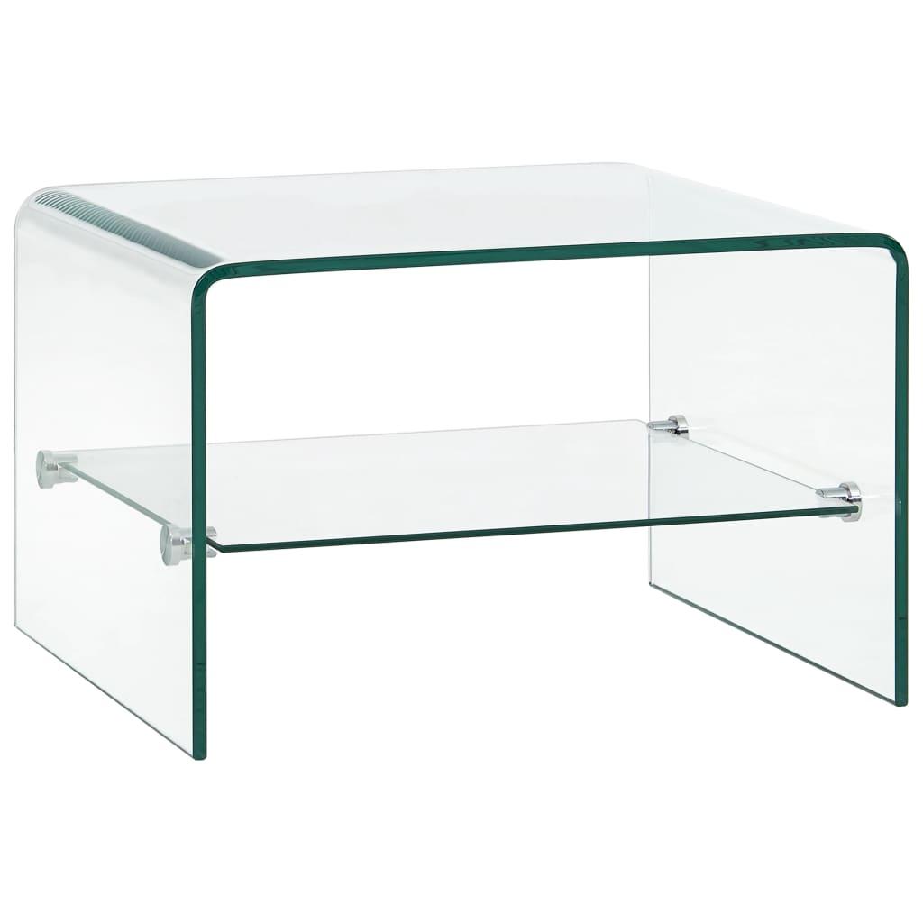 vidaXL Măsuță de cafea transparentă, 50 x 45 x 33 cm, sticlă securizată
