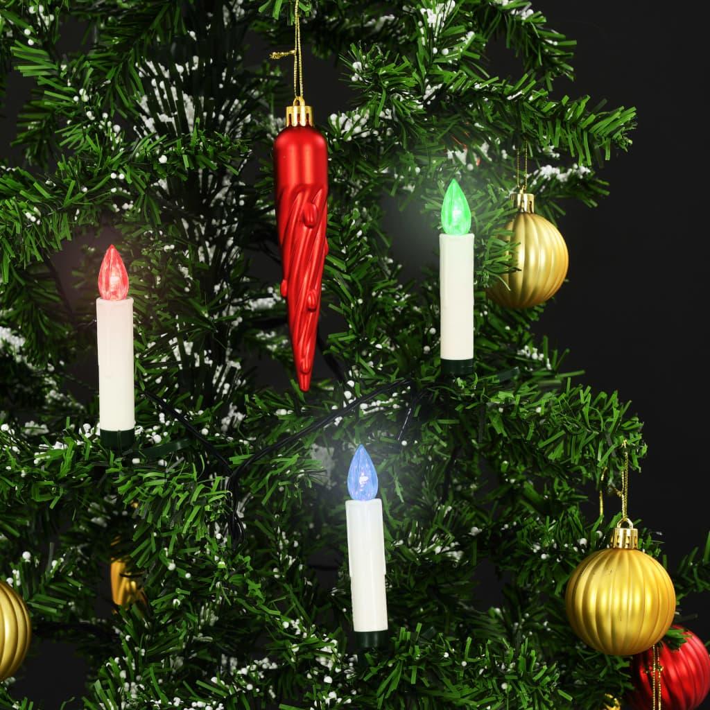 Lumânări LED wireless cu telecomandă 10 buc. RGB