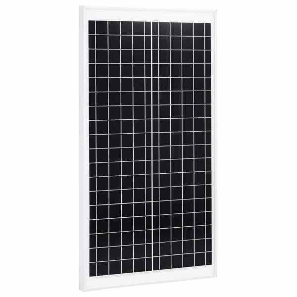 vidaXL Panou solar, 30 W, policristalin, aluminiu și sticlă securizată
