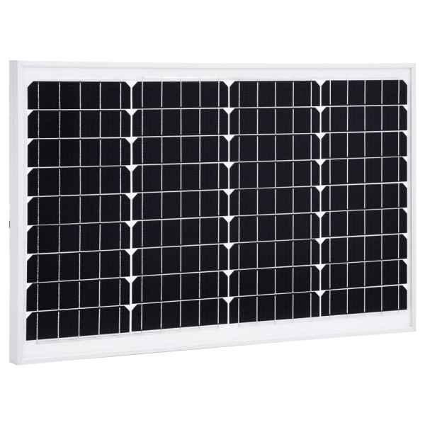 vidaXL Panou solar 40 W, aluminiu monocristalin și sticlă securizată