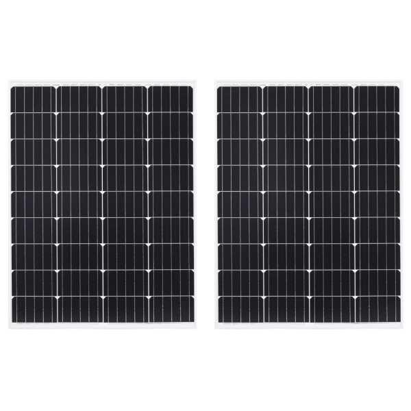 vidaXL Panouri solare, 2 buc., 100 W, aluminiu monocristalin & sticlă