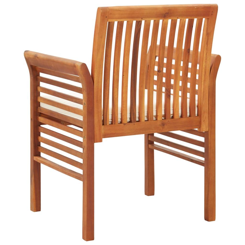 Scaun de grădină cu pernă, lemn masiv acacia